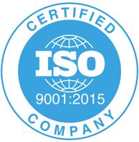 ISO9001 2015 Logo Blue
