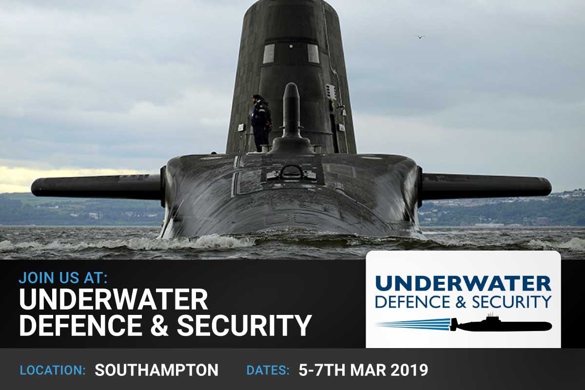 Join us at: Underwater Defence & Security 2019